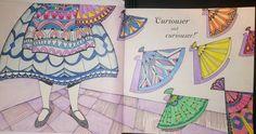 Colouring Escape to Wonderland Alicia Abanicos Doble pagina