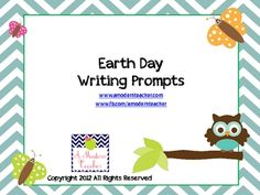 Here are some fun Earth Day Writing Prompts. Use them in so many ways! Use them for early finishers, Writer's Notebook, challenge, or include a cra...
