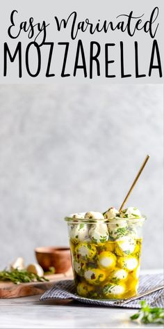 These Olive Oil Marinated Mozzarella Balls are a quick and easy appetizer that takes less than 15 minutes to make. It's the perfect appetizer for Thanksgiving, Christmas, New Years, or any other party! Appetizers For A Crowd, Quick And Easy Appetizers, Low Carb Appetizers, Finger Food Appetizers, Quick Snacks, Food For A Crowd, Appetizers For Party, Appetizer Recipes, Snack Recipes