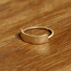"brass ""banner"" ring, handmade by Kristina Hansen"