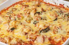 Protein And Veggie-Packed Cheesy Chicken Zucchini Casserole