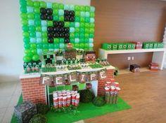 Mesa Minecraft loação e decoração. Consulte!