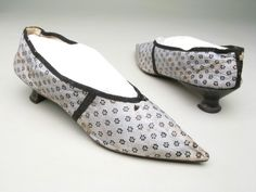 Slippers, 1790-1800. From the collections of the Manchester Art Galleries.