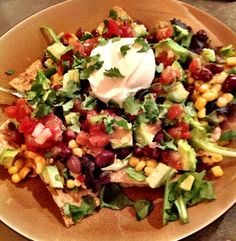 Veggie Taco Salad-looks and sounds amazing.
