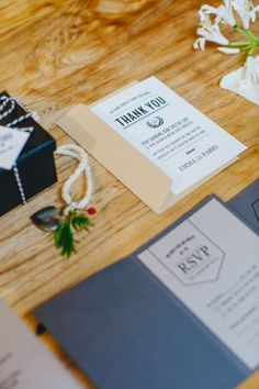urban chic wedding stationery