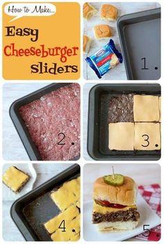 How to make cheeseburger slider