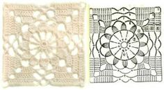 lace square pattern