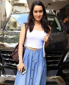 Denim Skirt, Midi Skirt, Sraddha Kapoor, Big Big, Salman Khan, Celebs, Celebrities, Haircuts, Bollywood