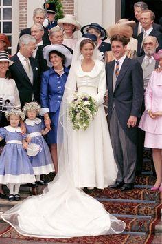 Vogue:  MAY 1998 – Prince Maurits of Holland marries Marilene van der Broek in Apeldoorn, Netherlands. Photo By PA Photos