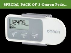 SPECIAL PACK OF 3-Omron Pedometer Digital. Increasing your activity level is a great way to improve your health and reduce stress and every step counts * The Omron HJ-320 is an accurate simple and easy-to-use motivational tool * ACCURACY: Unlike other pedometers that use a pendulum design this product features smart sensor technology so it won't miscount steps * TRI AXIS TECHNOLOGY: Position your pedometer where itÊs most comfortable - on your hip in your pocket or bag * TWO TRACKING…