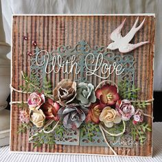 Flowers Galore by Otomys - Cards and Paper Crafts at Splitcoaststampers Shabby Chic Cards, 3d Cards, Heart Cards, Pretty Cards, Creative Cards, Gift Bags, Cardmaking, Craft Projects, Greeting Cards