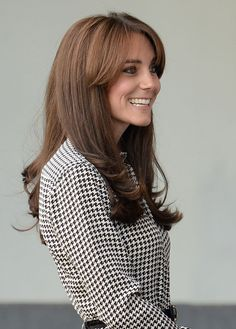 21 Fall Haircut Ideas to Get You Out of Your Style Rut - Duchess Catherine's long bangs and swingy layers  Photo Credit: Splash News