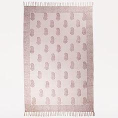 Ivory 4x6 block print rug $69.99
