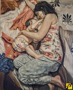 """Alexander Kuk, """"Motherhood"""" Breastfeeding art"""