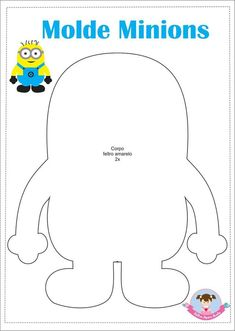 A Who's Who of the minions [ Minion Theme, Minion Birthday, Minion Party, Minion Stencil, Minion Template, Minions Friends, Minion Craft, Felt Crafts Patterns, Marianne Design