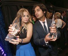 People's Choice Awards 2014 Kaley Cuoco and Kunal Nayyar Big Bang Theory Won and Kaley Won!!