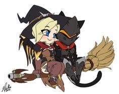 Witch mercy and cat Genji