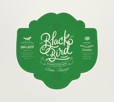 Blackbird Beer (Concept) on Packaging of the World - Creative Package Design Gallery Cool Packaging, Beer Packaging, Lettering Design, Logo Design, Brand Design, Graphic Design, Beer Images, Label Design, Package Design