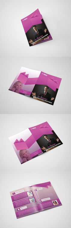 Corporate Bifold Brochure Brochures, Brochure template and Fonts - Fitness Brochure Template