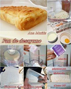 Pan para desayuno sin gluten, lactosa ni azúcar