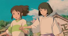 Screencap Gallery for Spirited Away Bluray, Studio Ghibli). Chihiro and her parents are moving to a small Japanese town in the countryside and Chihiro is missing her old house. Totoro, Studio Ghibli Art, Studio Ghibli Movies, Hayao Miyazaki, Animation, Manga Anime, Anime Art, Chihiro Y Haku, Kohaku