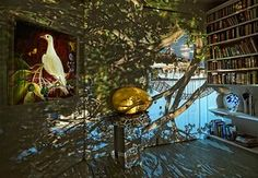 Wendy and Brett Whiteley's library, 2016. Type C print, 110 x 159cm. Courtesy of the artist and Stills Gallery, Sydney