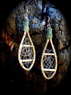 Snowshoe earrings. These are fantastic.