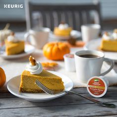 This recipe we're sharing today in honor of National Cheesecake Day is so smooth and decadent, with a little bit of a spice, that it's worth the effort. Senseo Coffee Pods, Coffee Cubes, Coffee Coffee, Pumpkin Spice K Cups, Pumkin Pie, National Cheesecake Day, Green Mountain Coffee, Pumpkin Cheesecake Recipes, Frozen Coffee