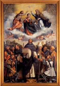 Brescia, Museo della città Santa Giulia, Pala di San Domenico, Romanino