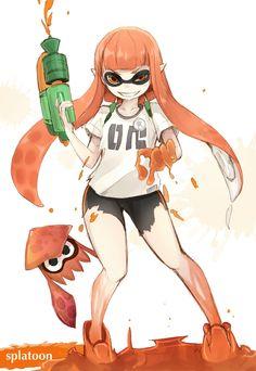 「スプラトゥーン「インクリング」」/「雪浜 @yukiha_ma」のイラスト [pixiv] #Inkling #squid