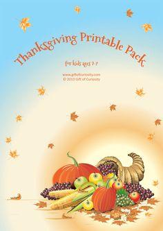 Free #Thanksgiving Printable Pack