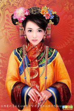 . Chinese Artwork, Chinese Drawings, Art Drawings, Art Of Beauty, Beauty Women, Portrait Photo, Female Portrait, China, Asian Art