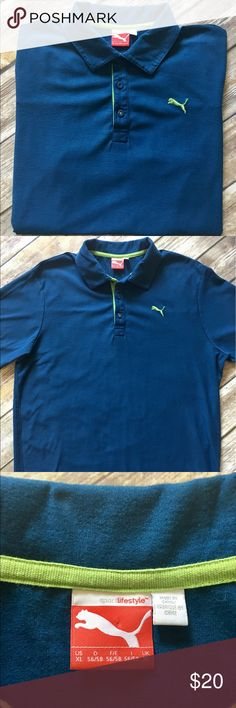 Puma - Short Sleeved Polo (XL) Puma - Short Sleeved Pima Cotton Polo (size XL). In amazing preowned condition. Please be sure to check out all of my other men's items to bundle and save. Same day or next business day shipping is guaranteed. Reasonable offers will be considered. Puma Shirts Polos