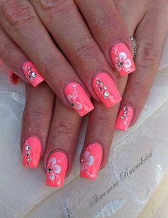 Nails design gray and pink valentines day 67 Ideas Grey Nail Designs, Flower Nail Designs, Cool Nail Designs, Nail Art Blog, Nail Art Diy, Spring Nails, Summer Nails, Cute Nails, Pretty Nails
