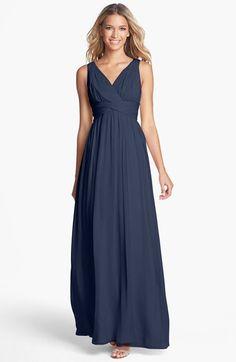 Donna Morgan 'Julie' Twist-Waist Silk Chiffon Gown (Regular & Plus)   Nordstrom