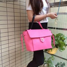 Replica Louis Vuitton LV Sakura Pink Full Genuine Leather, Size W38H32D12CM Famous Brand Handbags