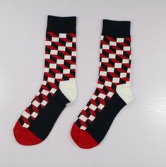 e51d3e5898d9b Be riotous with colour New Pattern Christmas Series Pure Cotton In  Personality Cartoon Man happy Male Socks