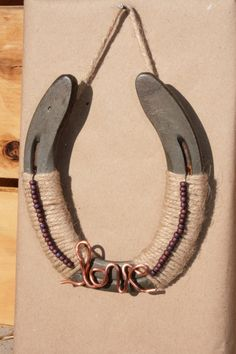 Love Horseshoe by RusticLuck on Etsy, $20.00 10% off through August 30th!