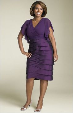 10. Flutter Sleeved Mother of the Bride Dress... - 10 Sexy Mother of the Bride Dresses… |Wedding