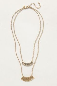 Gilded Monolith Necklace // anthropologie