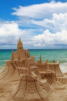 Elegant Sandcastle | How To Build An Awesome Sand Castle at the Beach - Easy Tips from the Experts! http://diyready.com/diy-sandcastle-ideas/