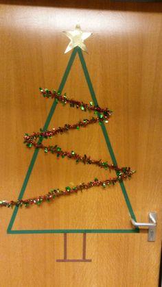 Kerstboom deur