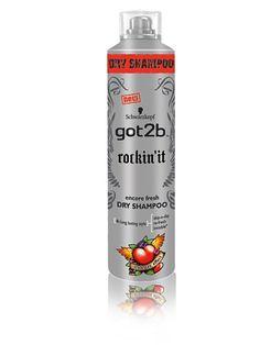 Got2b Rockin'it Dry Shampoo - Schwarzkopf Got2b - Läpinäkyvä - Hiustenhoito - Kauneus - Nainen - Nelly.com. Myös muut kuivashampoot käy.
