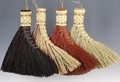 Turkey Wing Broom in your choice of Natural Black by BROOMCHICK...I have bought several of her brooms and love them...so many different styles and colors. They are more like works of art than boring utilitarian products...sometimes hate to get them dirty. :)