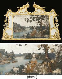 A GEORGE III GILTWOOD OVERMANTEL MIRROR WITH A CHINESE-EXPORT REVERSE MIRROR PAINTING-ON-GLASS  THE MIRROR-PAINTING SECOND HALF 18TH CENTURYhttp://www.christies.com/