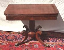LATE FEDERAL PERIOD CLASSICAL GAME TABLE ATTRIBUTED TO ISSAC VOSE BOSTON Boston Furniture, Console Table, Dining Table, Early American Furniture, Table Cards, Country Primitive, Antique Furniture, Restoration, Antiques