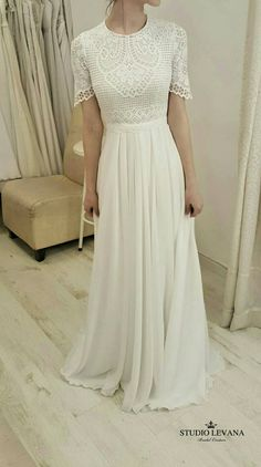 Modest wedding gown by Studio Levana