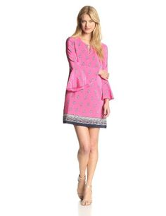 Juicy Couture Women's Boho Paisley Border Print Bell Sleeve Dress     #Bell, #Boho, #Border, #Couture, #Dress, #Juicy, #Paisley, #Print, #Sleeve, #Womens