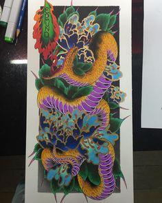 Finally!!! Hope you guys like it and have a great weekend . #japanesetattoo #japanesetattooart #japanesecollective #asiantattoo #asiantattooart #asian_inkandart #orientaltattoo #tattooflash #tattoolifemagazine #irezumi #irezumicollective #reclaimthedots #galaxytattoo2 #singaporetattoo #sgtattoo #drawing #copicmarkers #snaketattoo #peonytattoo #flashworkers #tattooprints #rivervalleyprintingco #japanesetattooart