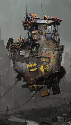 Interesting Environment and Prop Concept Art to get inspiration Steampunk Kunst, Steampunk Airship, Dieselpunk, Concept Ships, Concept Art, Fantasy Places, Fantasy Art, Science Fiction Kunst, Futuristic Art